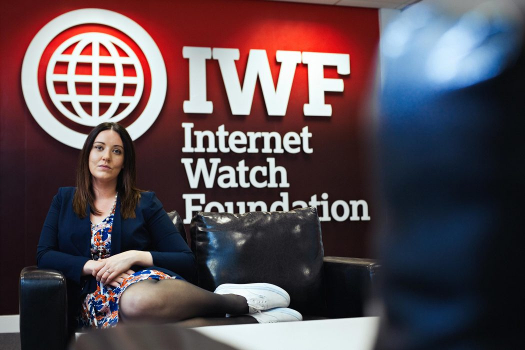 Office portrait photography of Harriet at the Internet Watch Foundation IWF