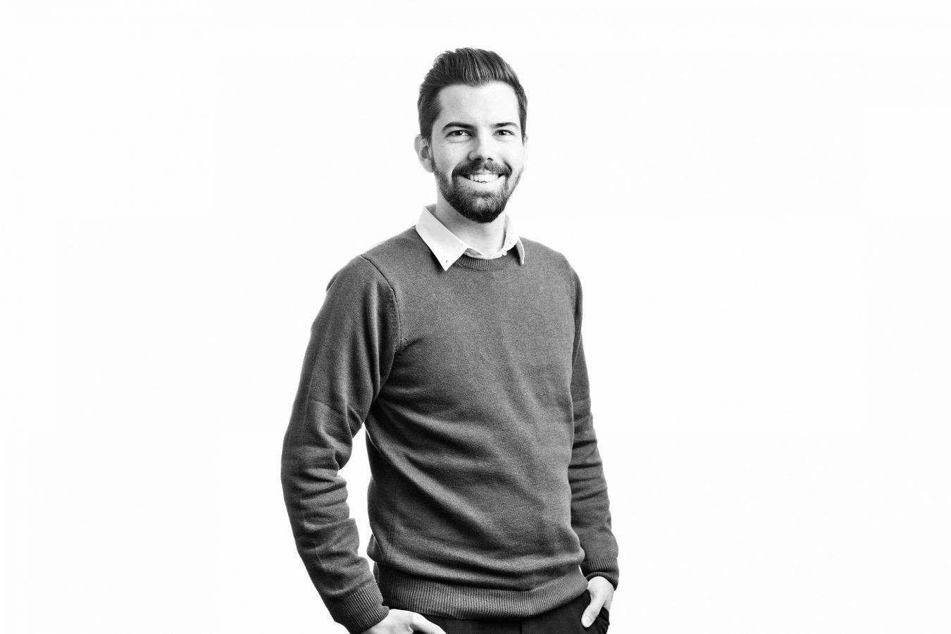 Taylor-Vinters-male-staff-portrait-studio-black-and-white-london