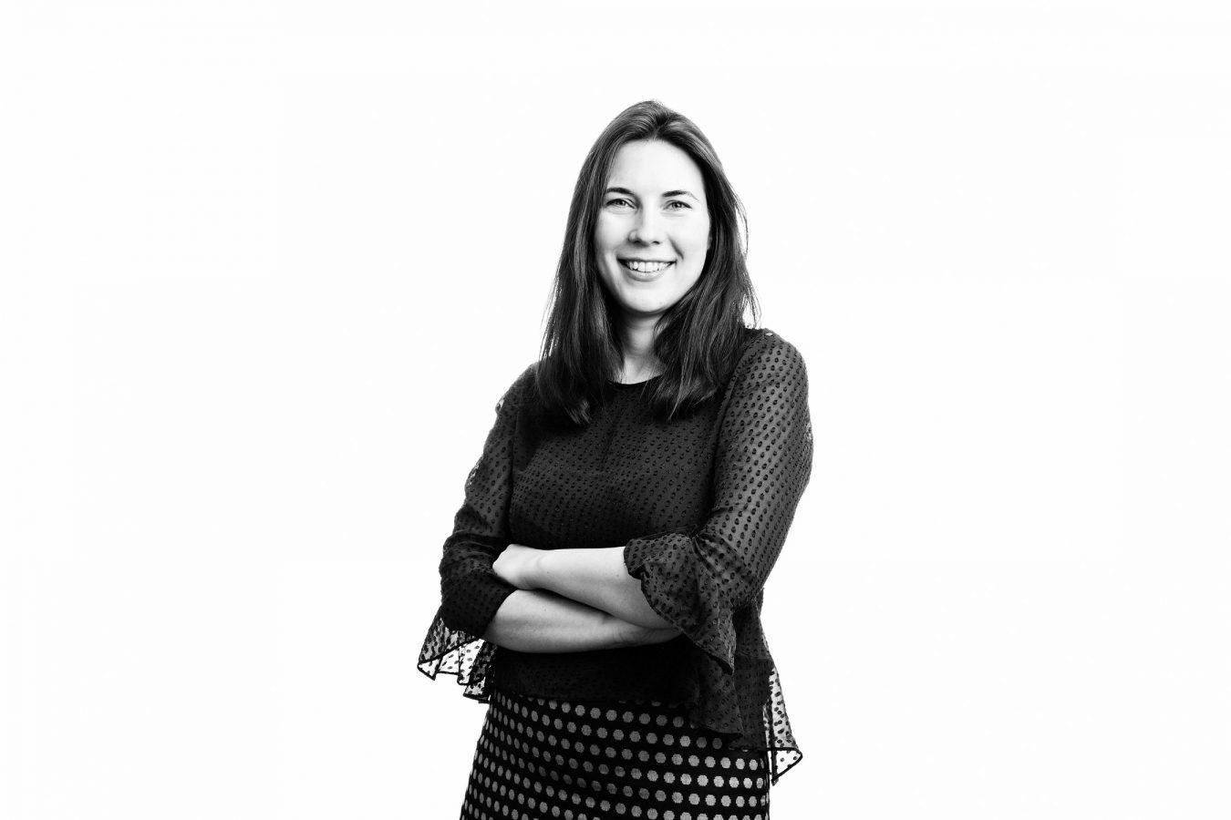 Taylor-Vinters-staff-portrait-studio-black-and-white-london-woman