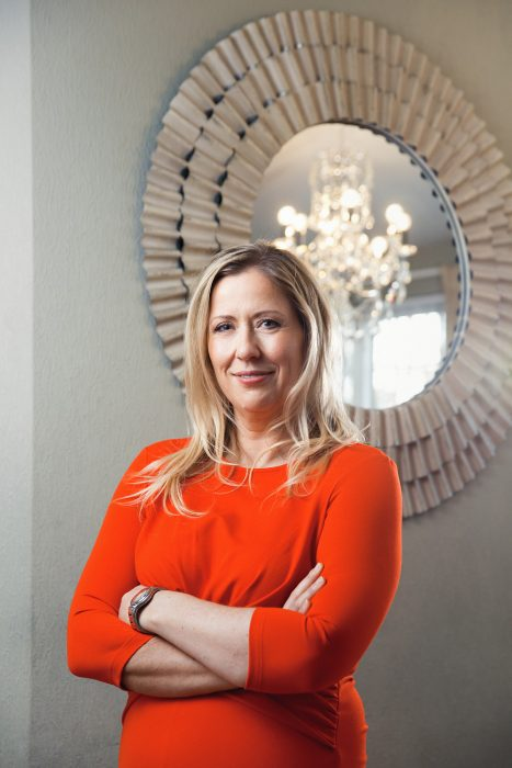 Lifestyle location portrait of Fiona Talbot, property personality shot in Ely.