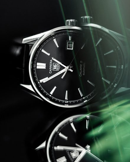 Tag Heuer Carrera Calibre 5 watch product photography